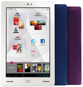 Kobo Arc tablet and Kobo Mini ebook reader