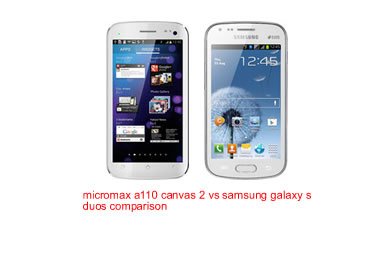 Micromax a110 canvas 2 vs Samsung galaxy s duos